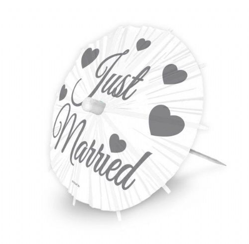 Wedding Picks Parasol Just Married 8S Sunshade Umberella Rain Sun